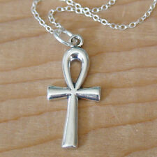 Ankh Necklace - 925 Sterling Silver -  Pendant Charm Jewelry Faith Cross NEW