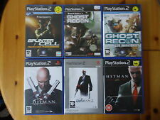 PS2 Games Tom Clancy Ghost Recon/Pandora/Hitman/Contracts/Assassin/Blood Money