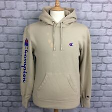 CHAMPION MENS UK S SCRIPT SLEEVE HOODIE BROWN OVERHEAD HOODED URBAN CASUAL