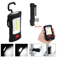 2 Mode COB + 3 LED Work Lamp Light Torch Magnet Hook Camping Bright Flashlight