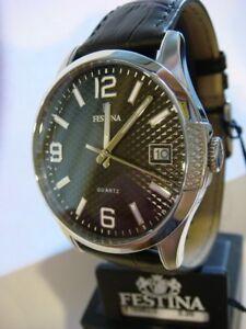New Genuine FESTINA Men's Watch Steel Black F16982/2