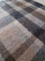 Pure Cashmere Scarf Checks Italian made NEW Luxury Como Brown Beige Grey Fiorio
