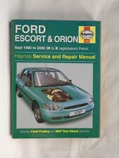 Ford Escort & Orion 1990 to 2000  Haynes workshop manual 1737