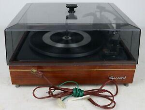 Vintage Garrard Laboratory Series AT60 Turntable + Plinth & Cover - Tested/Works