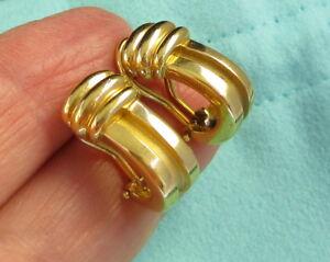 Tiffany & Co Vintage 1995 Bright Stunning 18k Yellow Gold ATLAS Pierced Earrings