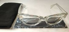 Oliver Peoples Tycoon XL RX Eyeglasses Polished Crystal 50-20-150 Made in Japan