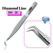 🍎 Diamond Tweezers Precise  Russian Volume D-2C Extensions Diamond Line Pro 🍎