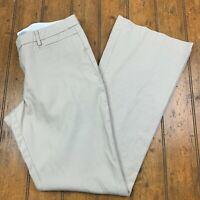 Gap Womens 12 Tall Modern Boot Flat Front Chino Pants Beige Cotton Career Work