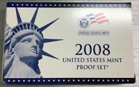 2008 United States Mint Proof Set 14 Coins Complete with Box & COA