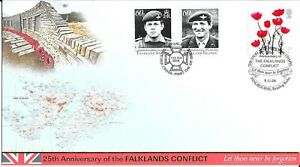 2006 Lest We Forget Buckingham Official FDC  Doubled In Falkland Islands