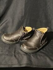 Baby Gap Unisex Brown Ankle Boots with Inside Zipper - Toddler Size 7 Very Cool!