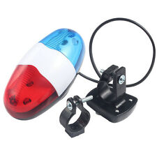 Electric Bike for Safety Cycling 4 Sounds 6LEDs Police Car Siren Light Horn Bell