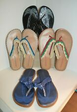 U PICK Montego BAY Flip FLOPS WOMEN SZ 5 - 10 Sandals Black Blue Pink Braid TOP