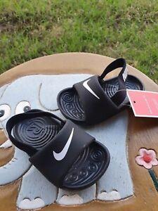 "Nike Kawa Slide ""BLACK/White' BRAND NEW Toddler 4C"