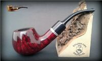 HAND MADE WOODEN TOBACCO SMOKING PIPE BRUYERE no. 74 Red  Briar  +  Box