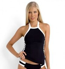 BNWT SEAFOLLY LADIES BLOCK PARTY HIGH NECK TANKINI SINGLET TOP SIZE 10 $129.95