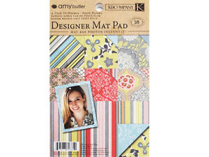 K&Company Amy Butler Designer Map Pad Cardstock, 18 Sheets #626652