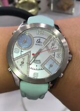 Jacob & Co. Diamond Stainless Steel 5 Time Zone Watch 47MM Wide 100% Authentic
