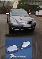 2 Cover Calotte specchi in Acciaio Cromato Cromo VOLKSWAGEN TOUAREG 2003-2006