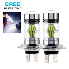 2x 12V H7 100W Cree LED Fog Tail Conduite Phare Lampe de voiture Main Jour Lampe
