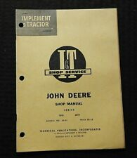 1962 JOHN DEERE MODEL 1010 2010 TRACTOR SERVICE SHOP REPAIR MANUAL