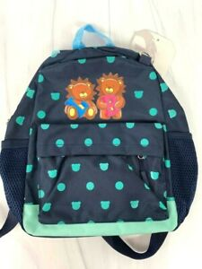 Boys Mini Backpack Lion Balance Child Blue Lightweight Canvas, NWT