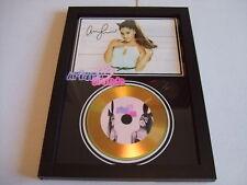 ariana grande  SIGNED  GOLD CD  DISC  91