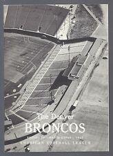 1961 AFL NFL DENVER BRONCOS MEDIA PRESS GUIDE - SECOND SEASON - RARE!!