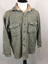 VTG 50's LL Bean Twill Wool Shirt Jacket Men's Size M Northwoods Signature Tag