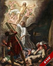 RESURRECTION OF LORD JESUS CHRIST PAINTING CHRISTIAN BIBLE ART REAL CANVAS PRINT