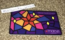 MACY'S GIFT CARD FELIZ NAVIDAD STAINED GLASS WINDOW NO VALUE COLLECTIBLE NEW