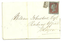 1841 1D RED NB 4 MARGINS 203 NUMERAL KILMARNOCK LETTER DATED DEC 25 CHRISTMAS