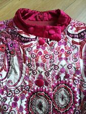 Vintage retro 1960s Psychedelic flower power padded Kayser housecoat night robe