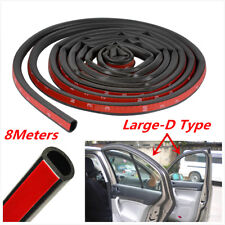 Car Door Window Trim Edge Moulding Rubber Weatherstrip Seal Strip 8M Big D Shape