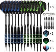 Professional Soft Tip Darts Set,12 Pcs 18g Plastic Tipped Dart New