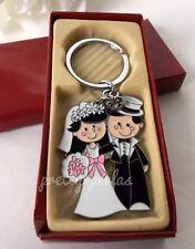12-Wedding Favors Couple Party Giveaways Keychains-Llaveros Recuerdos De Boda