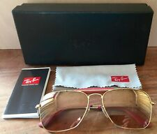 AUTHENTIC RAY-BAN CRAFT CARAVAN AVIATOR PINK LENSES  2011 RB3415Q