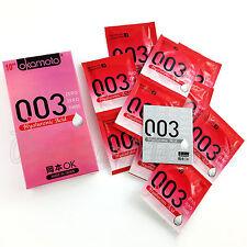 Okamoto 003 Hyaluronic Acid condoms * Moisture lubricant * Premium latex * Japan