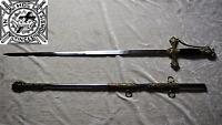 CEREMONIAL KNIGHTS TEMPLAR SWORD WITH BALCK HANDLE