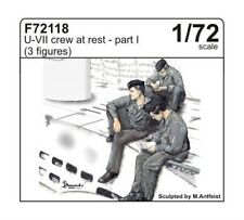 CMK 1:72 U-boat type VII crew at rest part I (3 fig.) Resin Figure #F72118
