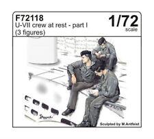 CMK 1:72 U-boat type VII crew at rest part I (3 fig.) Resin Figure #F72118