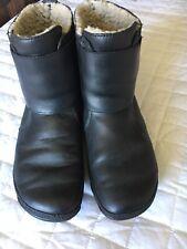 Fit Flops Fur Lined Black Boots EUC Size 41 Wobbleboard