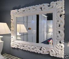 Espejo de Pared Blanco Espejo antiguo Barroco ROCOCO 90x70 Florenza WOW woe