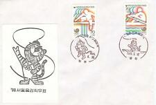 Korea Olympische Spiele Olympic Games 1988 First day cover Kwang Joo in violet