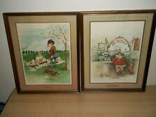 "2 VTG. GARY PATTERSON GOLF PRINTS. THE SAND TRAP & 19TH HOLE LAST SHOT. 14""X 11"""
