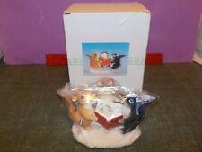 "Charming Tails Figurine ""Christmas Trio"" 87/713 By Fitz & Floyd"