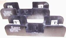 2 x Gould Ferraz Shawmut Mersen 60306 600V 30A fuse holder