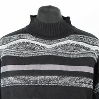 90s Vintage Mock Neck Cosby Sweater | Jumper Knit 3D Hip Roll Turtle