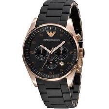 NEW EMPORIO ARMANI AR5905 Mens Watch Black Chronograph Rose Gold SPORTIVO QUARTZ