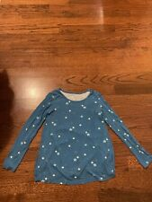 Girl's Justice Long Sleeve Top Blue With  00004000 Stars Size 14-16